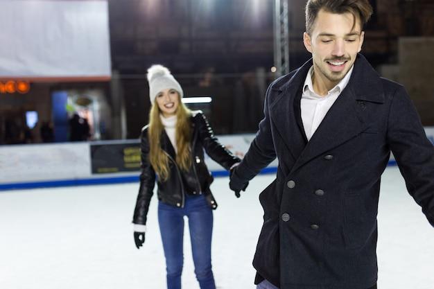 Levensstijl liefde actieve persoon ijs