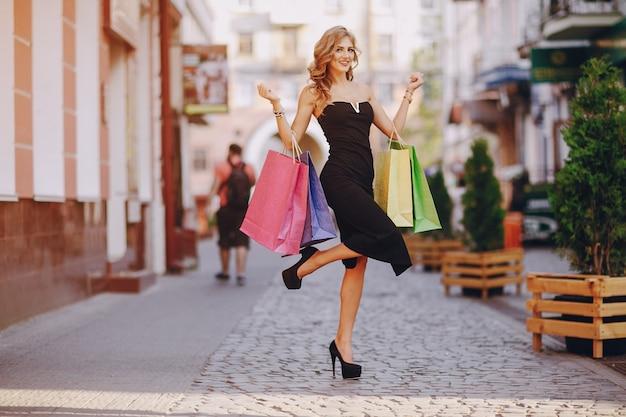 Levensstijl shopaholic lange winkel schoonheid