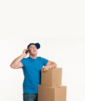 Levering man bedrijf telefoon en op te zoeken