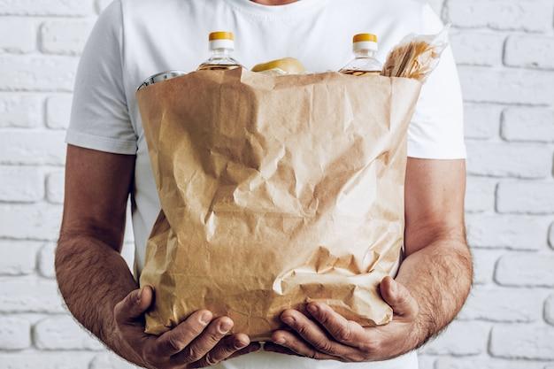 Levering van eten, online winkelen concept