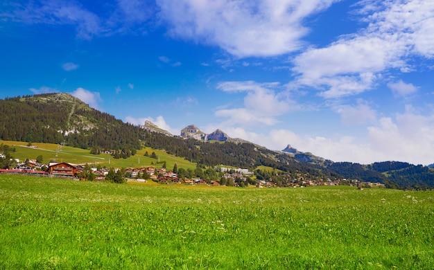 Leysin in alpen in ormont dessus in zwitserland