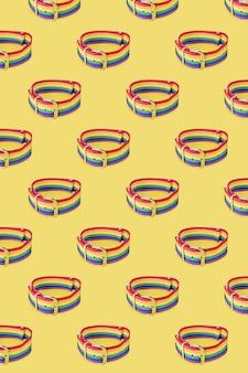 Lgbt-armbandpatroon met gesp