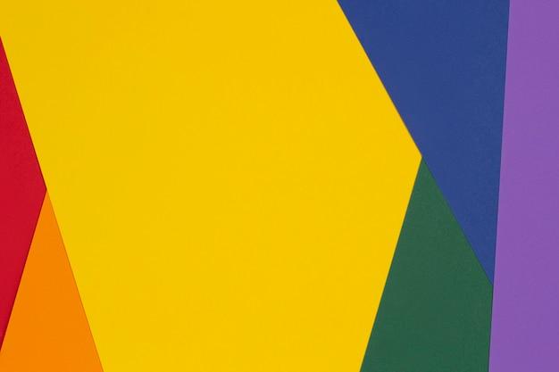 Lgbt-kleuren papier achtergrond trots gemeenschap regenboogkleuren lay-out