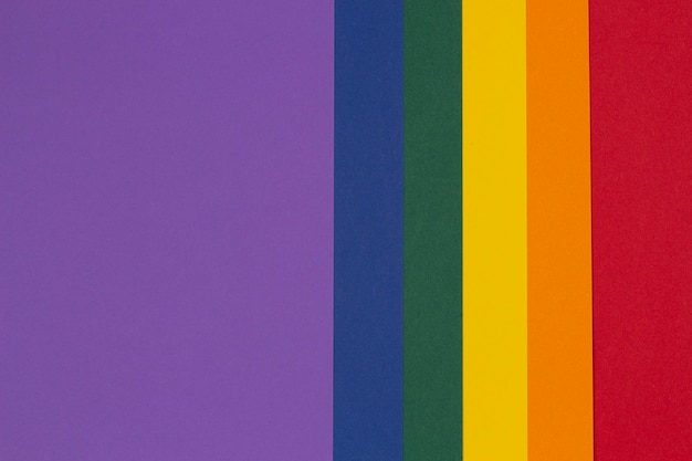 Lgbt-kleuren papier achtergrond trots gemeenschap regenboogkleuren
