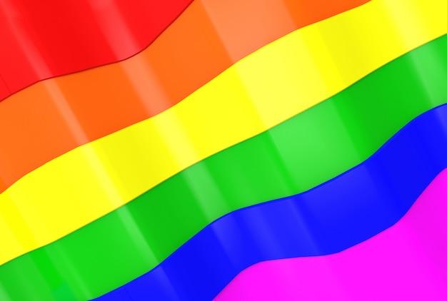 Lgbt regenboog curve patroon vlag muur achtergrond.