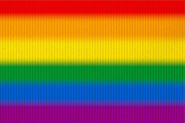 Lgbt-trotsvlag of regenboog-trotsvlag op golfkarton