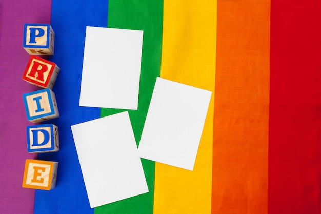 Lgbtq-concept, homo-achtergrond, bericht aan jou