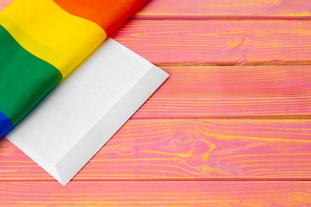 Lgbtq, symbool gay, bericht aan jou