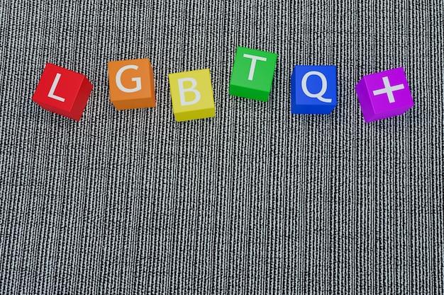 Lgbtq-trotssymbolen en kleur, 3d-afbeeldingsweergave