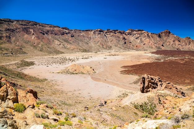 Liano de ucanca bergen in de oude vulkaan teide national park, tenerife, spanje