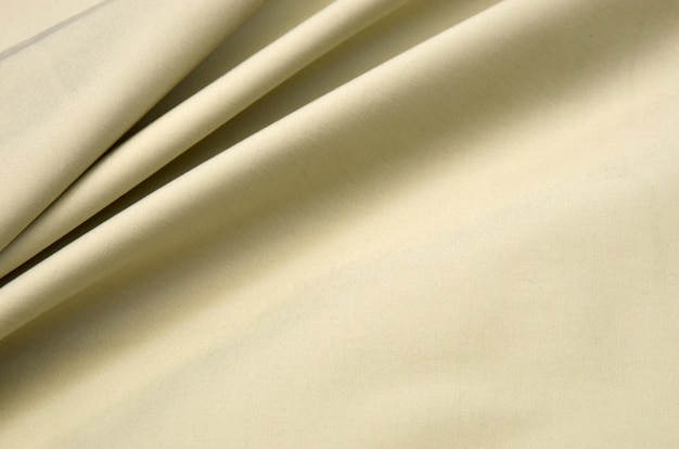 Licht beige katoenen stof