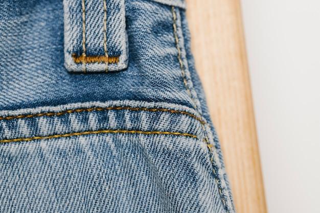 Licht blauwe denim textuur close-up