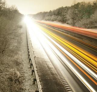 Licht blur verkeer