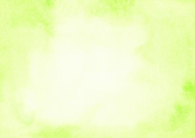 Licht citroen gele aquarel achtergrond geschilderd op geweven papier. ruimte voor tekst