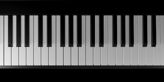 Licht en schaduw van piano in de duisternis