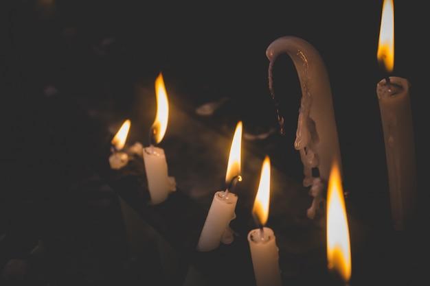 Licht kaarsen smelten