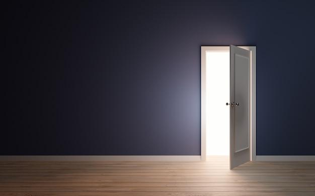 Licht lekt uit deur