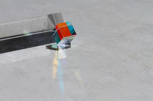 Licht prisma's effect close-up