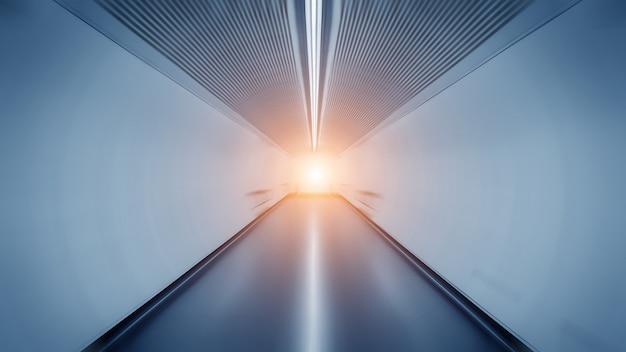 Licht spoor in tunnel