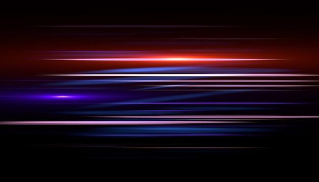 Licht streak snel effect. abstracte snelheid als achtergrond.