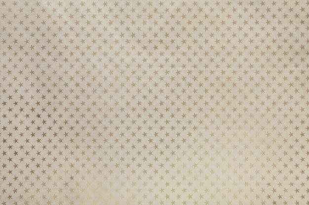 Lichtbeige metaalfoliepapier met een sterrenpatroon