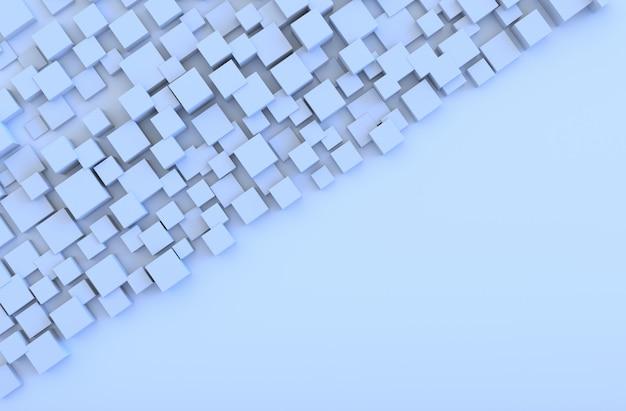 Lichtblauwe geometrische kubus vormen achtergrond