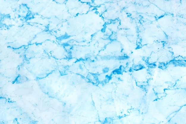 Lichtblauwe marmeren textuurachtergrond met gedetailleerde heldere en luxueuze structuur hoge resolutie, tegelsteenvloer in natuurlijk oppervlak voor binnen of buiten.