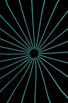 Lichtblauwe neonlichten op zwarte achtergrond
