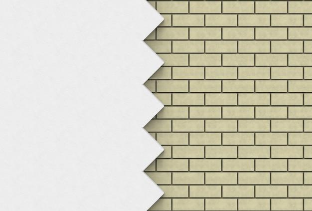 Lichtbruine bakstenen en zigzag muur achtergrond.