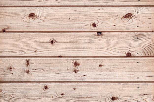 Lichtbruine houten planken, textuurmuurachtergrond, horizontale opstelling van strepen.