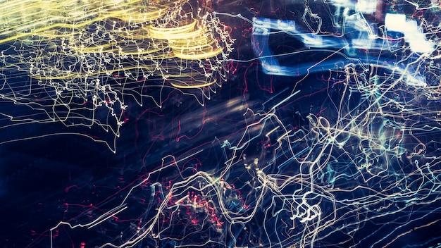 Lichte abstracte achtergrond, lichte beweging met langzaam sluitertijd.