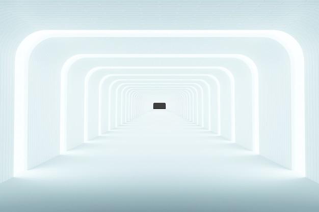 Lichte achtergrond abstracte achtergrond, modern design, 3d-rendering