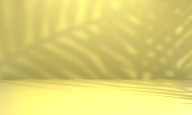 Lichte studioachtergrond voor presentatie met natuurlijke schaduwen. 3d-rendering