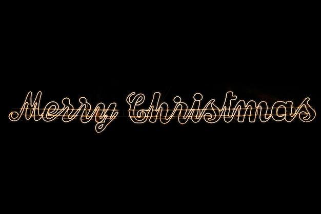 Lichte tekst merry christmas achtergrond met kopie ruimte