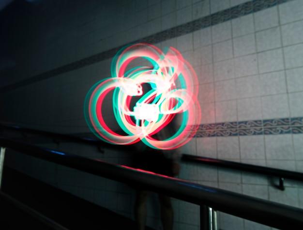 Lichten tekenen lange belichtingstechniek