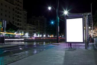 Lichten van de nacht stad