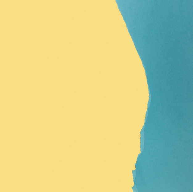 Lichtgeel en blauw papier kopie ruimte