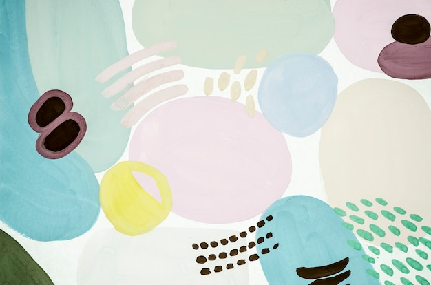 Lichtgekleurd abstract schilderij