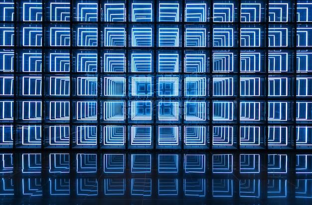 Lichtgevende technologie muur als achtergrond