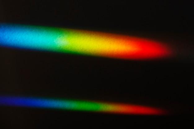 Lichtlekeffect op een zwart behang