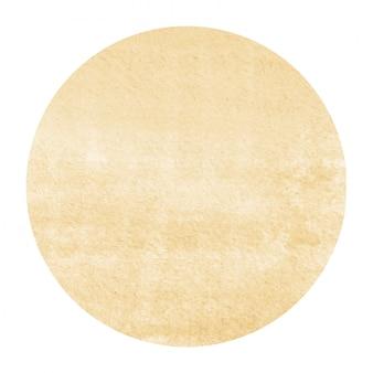 Lichtoranje hand getekende aquarel cirkel