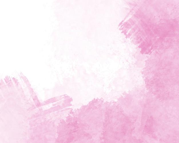 Lichtroze textuur met abstracte handgeschilderde aquarel op een wit