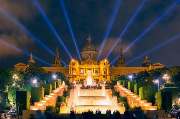 Lichtshow en fonteinen, placa espanya, barcelona