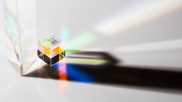 Lichtstralen in hoge prisma-weergave