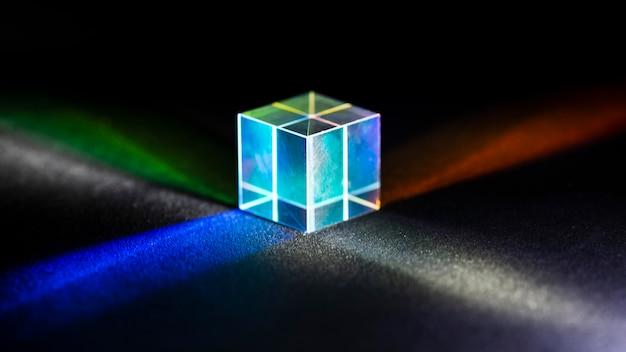 Lichtstralen in prisma