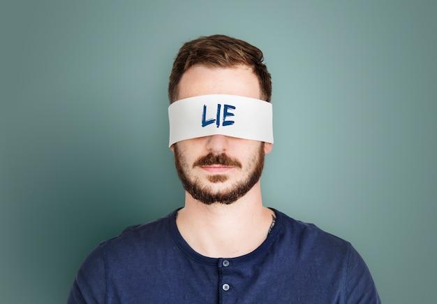 Lie fake cheat word concept