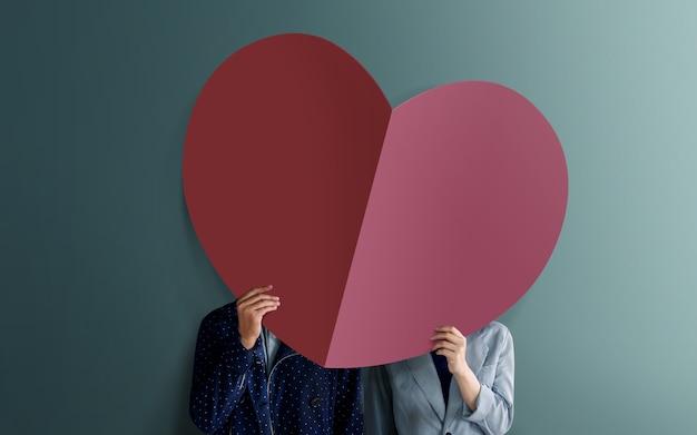 Liefde en valentijnsdag concept