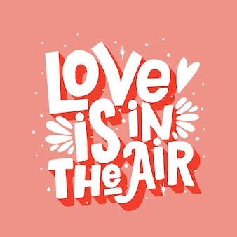 Liefde is in de lucht belettering