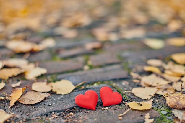 Liefde of vriendschap concept