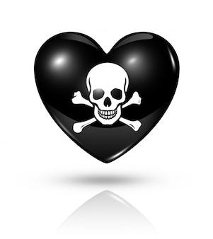 Liefde piraat hart pictogram